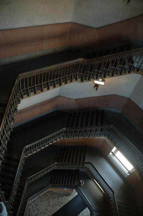 The northwest stair at Philadelphia City Hall