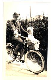 Mynn White and Jim with bike