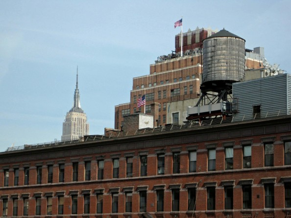 empire state building, water tower, high line, new york city