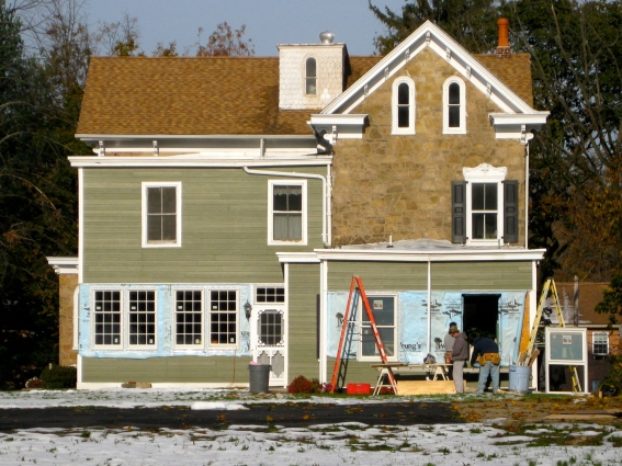 Victorian house gets remodeling work