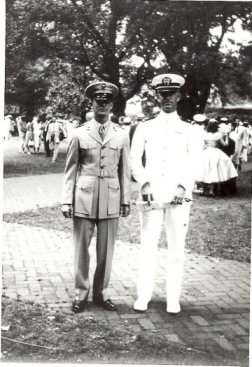 US Naval Academy Graduation June 4 1950_with roommate