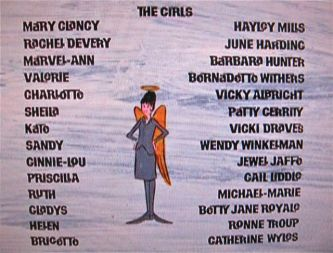 "credits from ""The Trouble with Angels"""